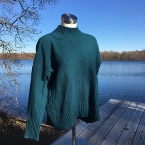 Anthropologie Angel of the North turquoise sweater
